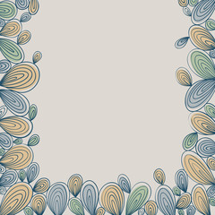 Abstract bright hand drawn curly framing with stripes, best for
