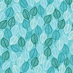 Beautiful spring leaves seamless pattern.