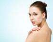 Girl with markings mesotherapy zones