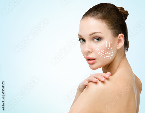 poster of Girl with markings mesotherapy zones