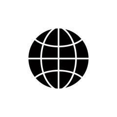 Earth simplistic vector icon.