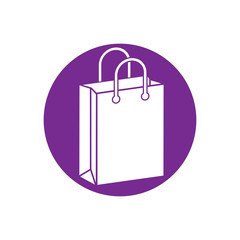 Shopping bag vector icon.