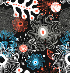 Seamless decorative abstract pattern