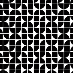 Black and white abstract geometric seamless pattern, contrast re
