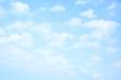 Leinwanddruck Bild - Light blue sky with clouds