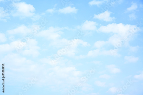 Light blue sky with clouds - 73888755