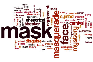 Mask word cloud