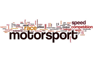 Motorsport word cloud