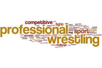 Professional wrestling word cloud