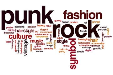 Punk rock word cloud