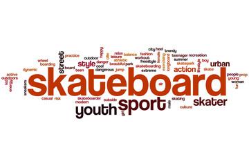 Skateboard word cloud
