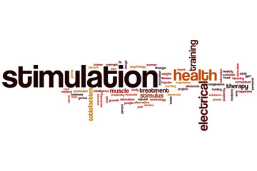 Stimulation word cloud