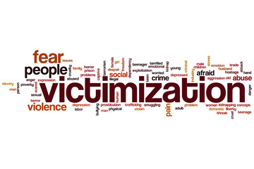 Victimization word cloud