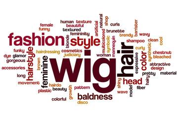 Wig word cloud