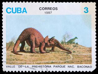 shows a dinosaur