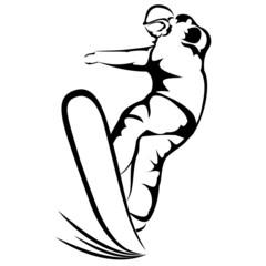 Snowboarder sketch