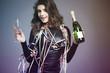 Obrazy na płótnie, fototapety, zdjęcia, fotoobrazy drukowane : Let's welcome new year with champagne