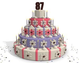 Cake 87 jaar oud