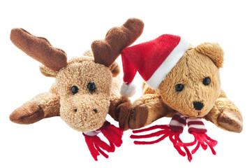 Weihnachtselch und Weihnachtsbär