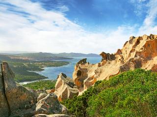 Granite coast near Palau - Bear rock, northern Sardinia, Italy