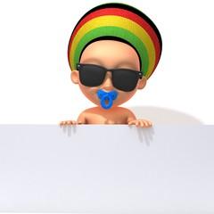 Baby Jake Rastafarian with white panel