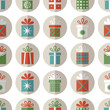 Seamless pattern of flat gift packages, Christmas gifts