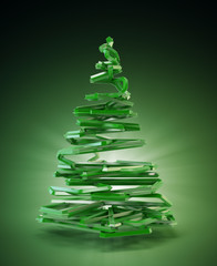 3D stylized Christmas tree