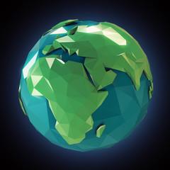 Stylized 3d Earth