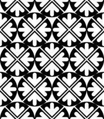 Futuristic black and white extraordinary geometric seamless patt