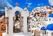 unique Santorini, view with church bell in Oia