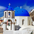traditional churches of Santorini