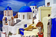 colors of Santorini series - Oia village