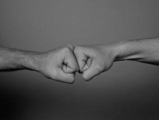 Two men punching