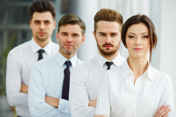Portrait of Successful Business people Team