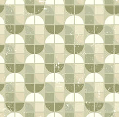 Neutral tattered textile geometric seamless pattern, vector abst