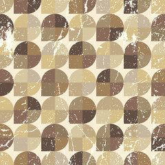 Vintage neutral seamless pattern, vector spherical abstract back