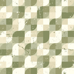 Geometric diagonal seamless pattern, vintage ornamental abstract