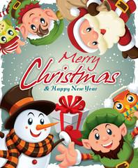 506 Vintage christmas poster design (216).cdr