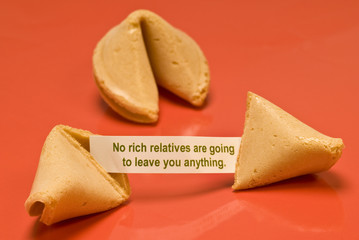 No Rich Relatives Fortune Cookie
