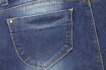 blue jeans fabric with a pocket abstract background