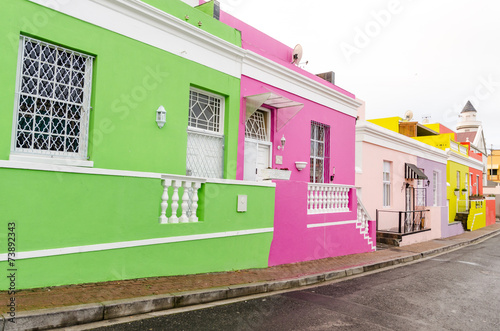 Staande foto Afrika Colourful Houses in Bo-Kaap – Cape Town