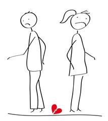 Scheidung - Paar in Trennung