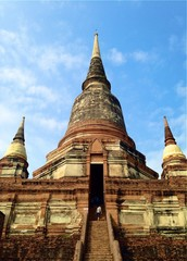 old temple of Ayutthaya Thailand