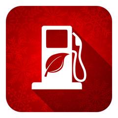 biofuel flat icon, christmas button, bio fuel sign