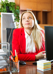 Female employee doesn't have anything to do