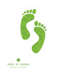 Vector abstract green and white circles footprints silhouettes