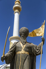 Independence Monument in Ashgabat Turkmenistan