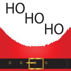 Santa Close Up with - HO HO HO.