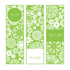 Vector abstract green and white circles vertical banners set