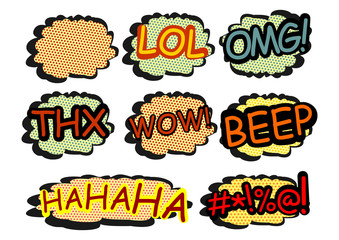 Comics speech bubbles